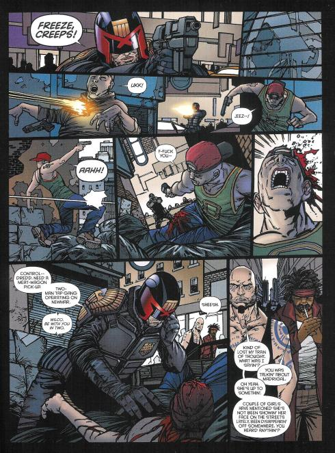 Judge Dredd - MEG 328 - Script Matt Smith - Art Henry Flint - Copyright Rebellion